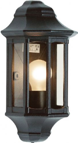 Satin black paint & clear Polycarbonate Outdoor Wall Light 1818S by Endon